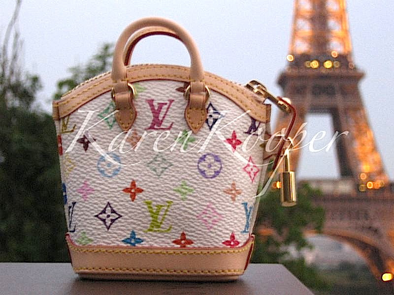 Louis Vuitton Multicolore Murakami Miniature Lockit Paris Champ-Elysees Limited Ed.