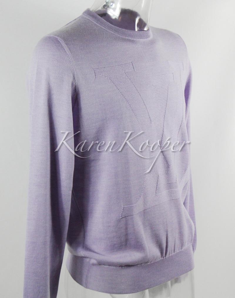 louis vuitton men kanye lv logo sweater pullover rare new. Black Bedroom Furniture Sets. Home Design Ideas